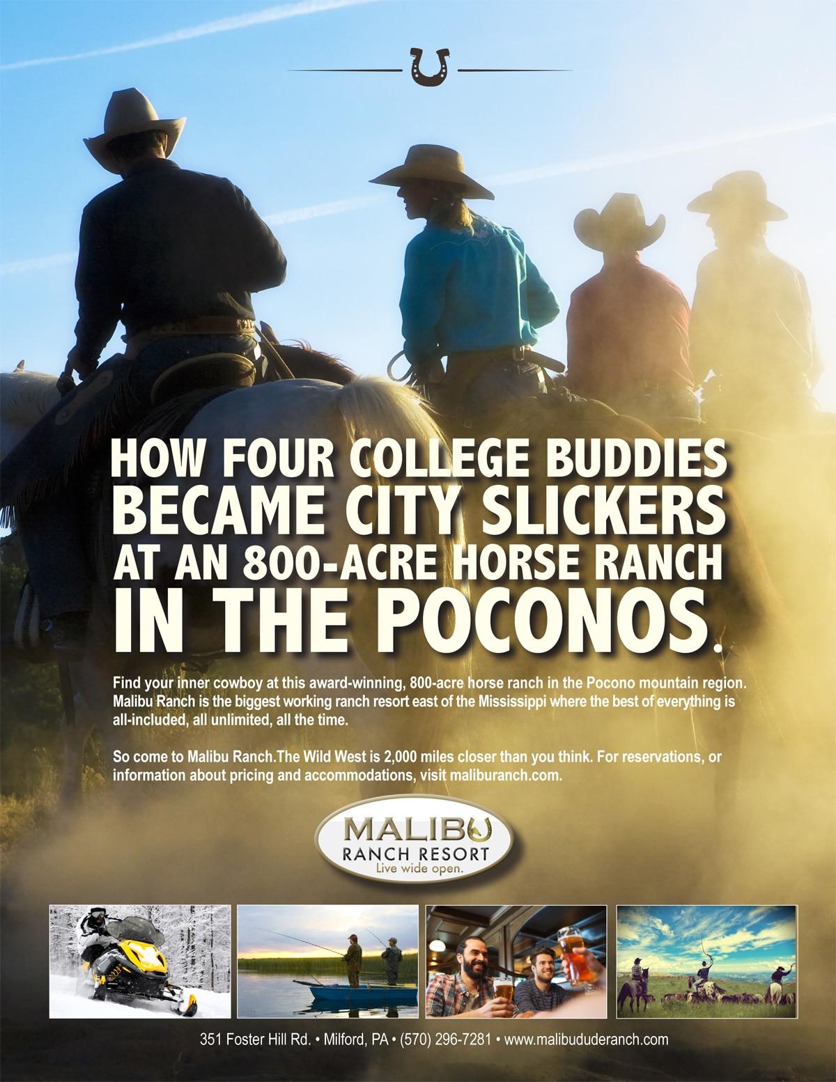 Malibu Ranch Resort Print Ad