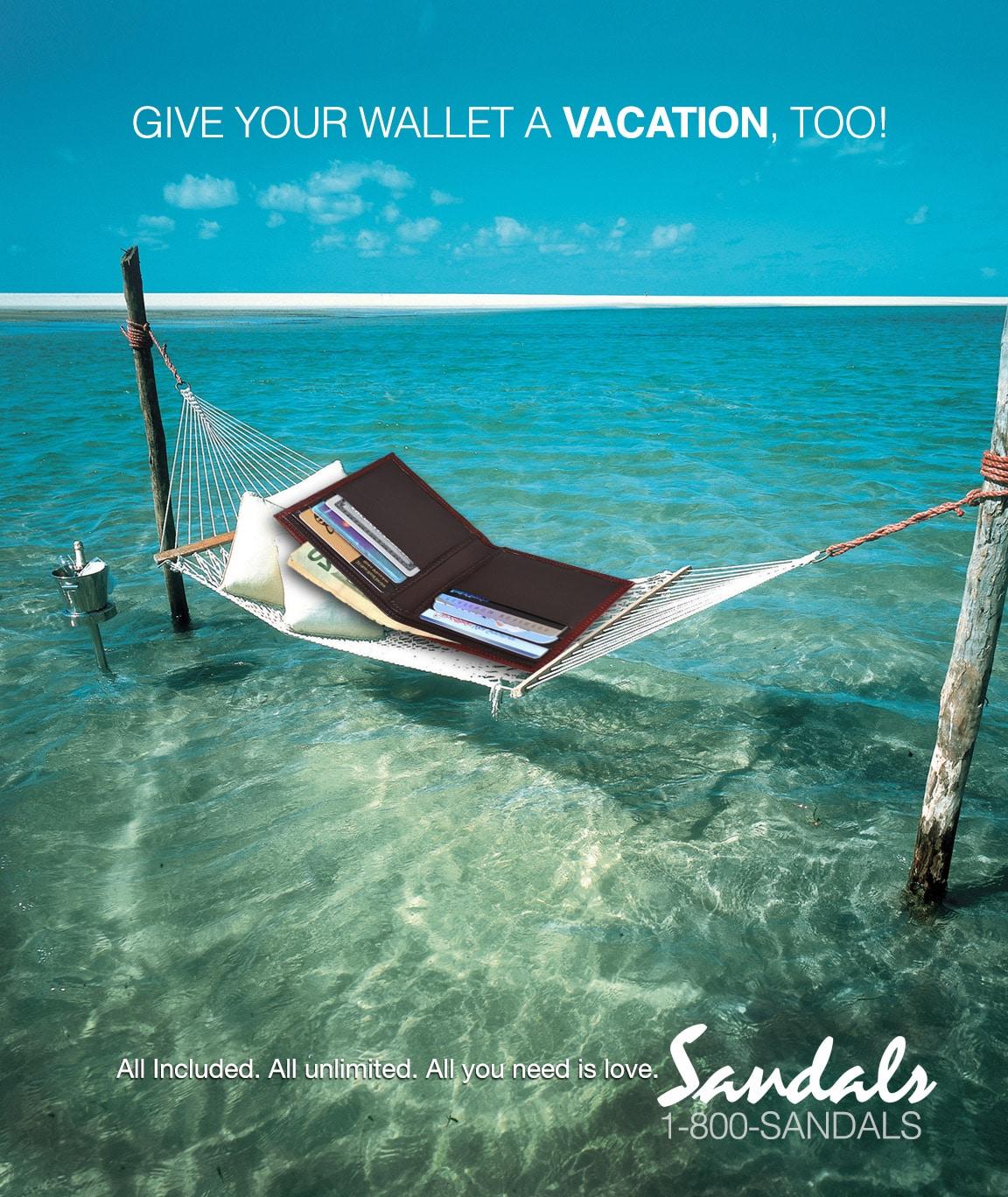 Sandals Print Ad